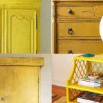 Imágenes de pintura a la tiza amarilla y chalk paint amarillo