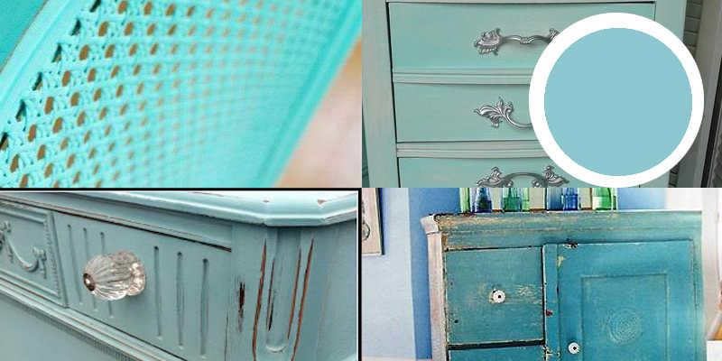 Imágenes de pintura a la tiza azul o chalk paint