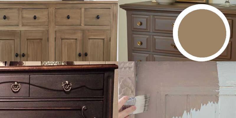 Imágenes de pintura a la tiza marrón chalk paint