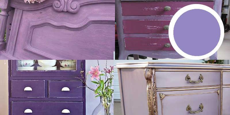 Imágenes de pintura a la tiza morada o chalk paint morado
