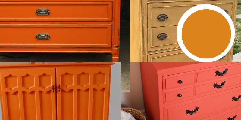 Imágenes de pintura a la tiza naranja y chalk paint