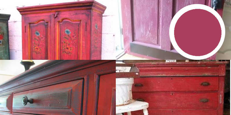 Imágenes de pintura a la tiza roja o chalk paint