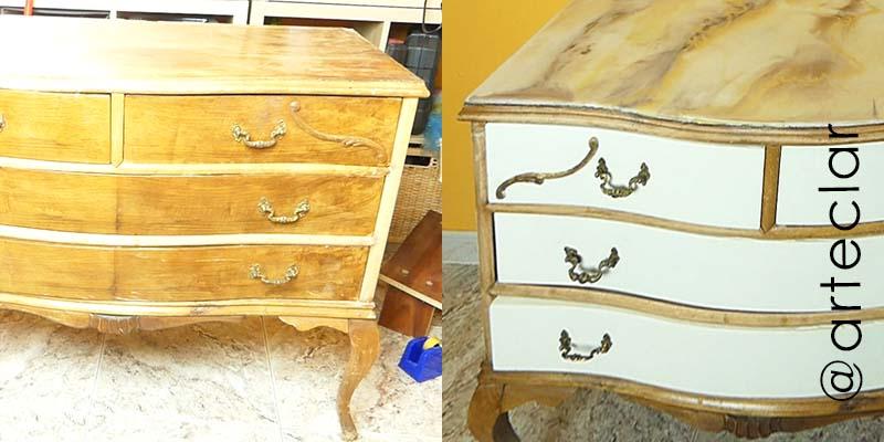 Restauración de cómoda con chalk paint o pintura a la tiza tutorial paso a paso